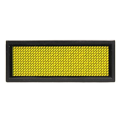 75Mw Yellow Led Mini Board / Led Name Card With Multi Modes Battery Powered