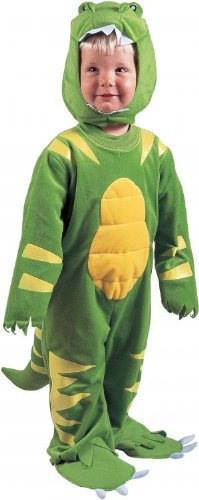 Green Lil' Dino Child Costume 2-4T toddler boys or girls little Dinosaur