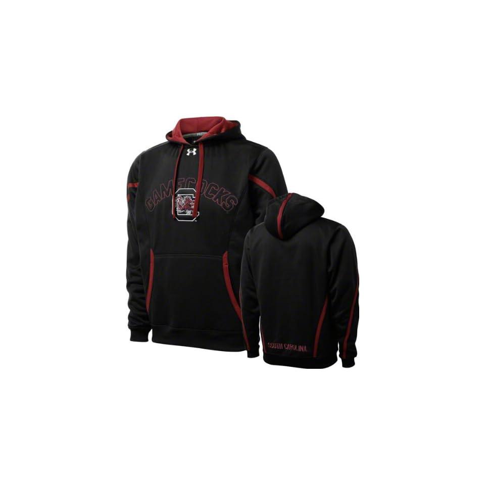 South Carolina Gamecocks Black Under Armour Performance Football Sideline Hooded Sweatshirt