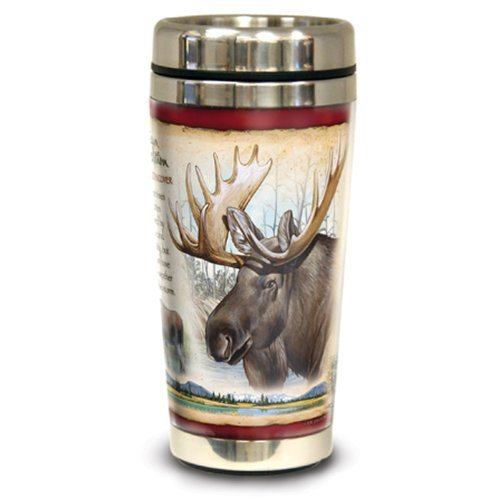 American Expedition Wildlife Steel Travel Mug (Bull Moose)
