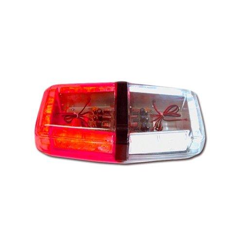 Red And White Led Mini Light Bar Half Watt .5 Watt Mini Lightbar Red White Flashing Led Lights Roof Strobe Emergency Vehicles