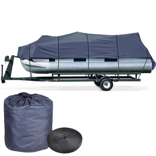 Durable Waterproof Pontoon Boat Cover 18' to 20' (Blue)