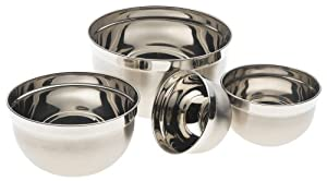 Prime Pacific Euro Stainless Steel Mixing Bowls, Set of 4