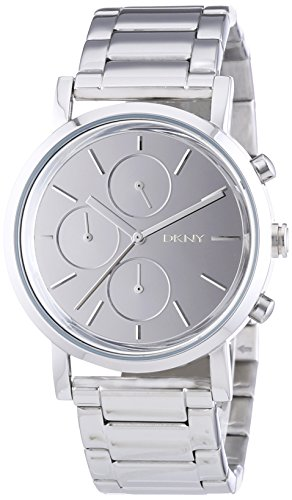 DKNY  NY8860 - Reloj de cuarzo para hombre, con correa de acero inoxidable, color plateado