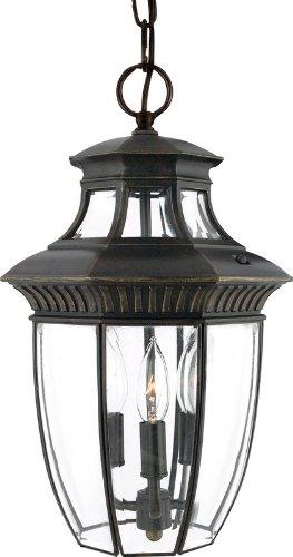 Quoizel GT1700IB Georgetown 3-Light Outdoor Hanging Lantern, Imperial Bronze