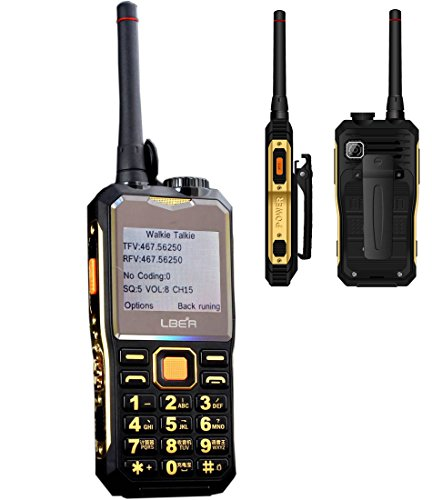 Lber E9600 Multifunctional Two Way Radio ( Power Bank, Cell Phone, LED flashlight, Camera and Buletooth) - Gold+Black (Portable Carrier Phone Chargers compare prices)
