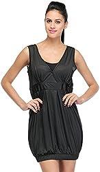 JH Mart Women's Cocktail Dress (JHDRS1028_Blk_S, Black, S)