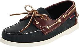 Sebago Men's Spinnaker Shoe,Blue/Brown,7.5 W US