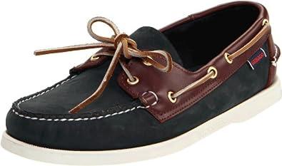 Sebago Mens Spinnaker Docksides Boat Shoes Blue/Brown Nubuck, 5 W