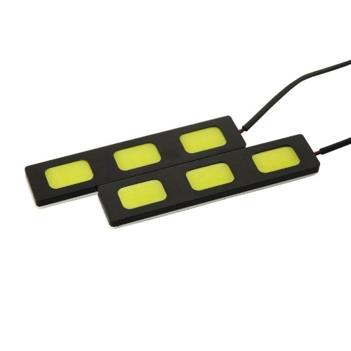 Tabstore 2 X 12V High Power 3W 6000-7000K White Super Bright Drl Cob 3 Led Daylight Driving Daytime Running