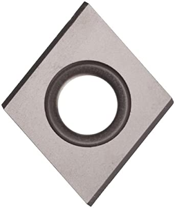"Sandvik Coromant T-MAX SCREW CLAMP  Carbide Milling Insert, 009370 Style, Diamond, H13A Grade, Uncoated, 009370R9,0.187"" Thick, 0.027"" Corner Radius (Pack of 10)"