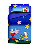 FUNNY BED by MANIFATTURE COTONIERE Juego De Funda Nórdica (Azul/Multicolor)