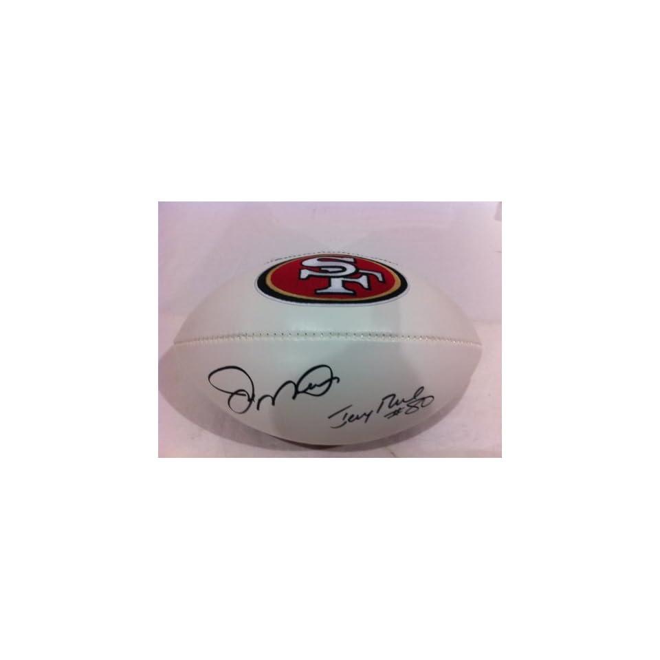 Joe Montana & Jerry Rice Hand Signed Autographed Fullsize Commemorative 49ers Football