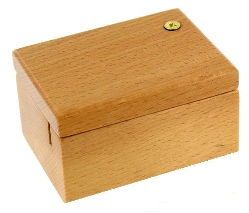 Boîte en bois vernis pour boîte à musique à manivelle