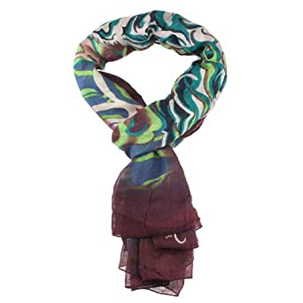 ed hardy 80x40 tiger scarf green at s