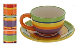 Large Coffee Cup And Saucer Tea Large Ceramics Pottery
