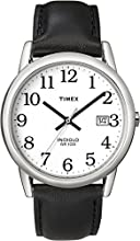 Timex Classic Men's Quartz Watch with White Dial Analogue Display and Black Leather Strap - T2H281PF