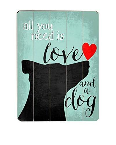 Artehouse Love and a Dog Wood Wall Décor
