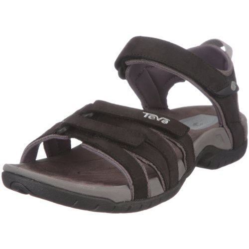 Teva Tirra Leather Women's Sandal Black/black UK 3
