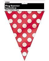 Drapeau bannière points décoratifs rouges de 12 pieds-Ruby