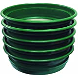 """SE GP2-5 SET 5-Piece Set of Patented 13-1/4"""" Stackable Sifting Pans"""