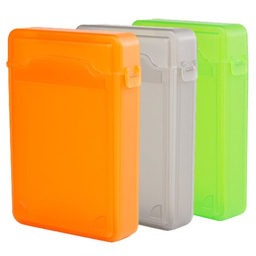 Ikross 3 Colors Package - 3.5 Inch Ide/Sata Hdd Storage Protection Boxes - Orange,Gray And Green