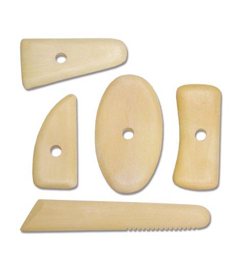 Royal & Langnickel RSET-POT8 Wooden Potters Rib (5 Piece)