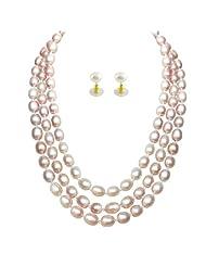 Jpearls Monumental 3line Pearl Set