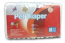 Super Dog Diaper (Medium, 14 Pieces)