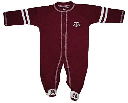 Texas A&M Aggies NCAA College Newborn Baby Long Sleeve Footed Romper