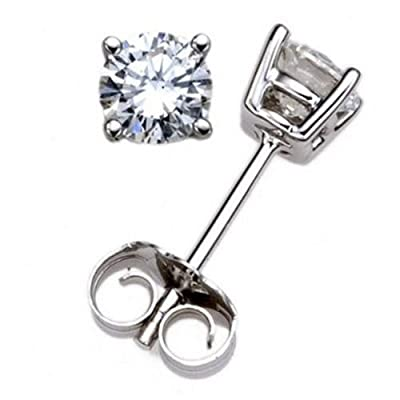 Virtual Purchase: 1/2 Carat TW Round Diamond Stud Earrings