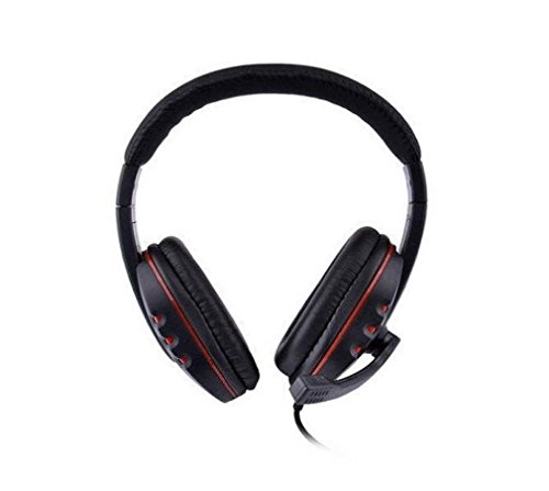 Dpower Leather Usb Wired Stereo Micphone Headphone Mic Headset For Sony Ps3 Pc Game