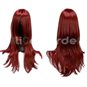 Mix Dark Red D.Gray-man Naruto Costume Wig