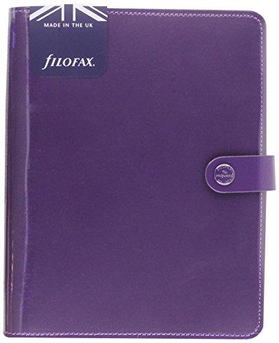 Filofax A5 Original Patent Purple