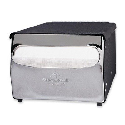 "Napkin Dispenser, Table Model, 5""x6-1/2"", Black Chrome"
