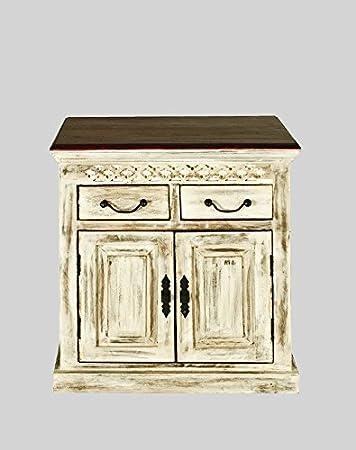 De madera de acacia maciza con estilo colonial muebles madera maciza cómoda Mango madera maciza con estilo colonial muebles Castle-metalizados #275