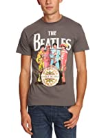 The Beatles Men's SGT Pepper Short Sleeve T-Shirt, Grey (Charcoal), Large