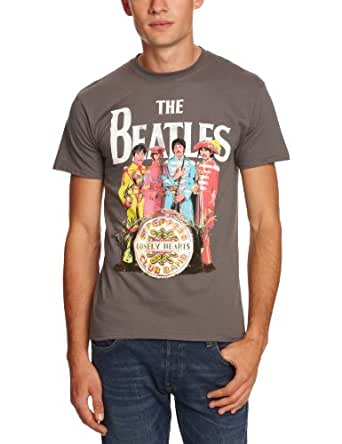The Beatles Sgt Pepper Charcoal Mens T-Shirt Small