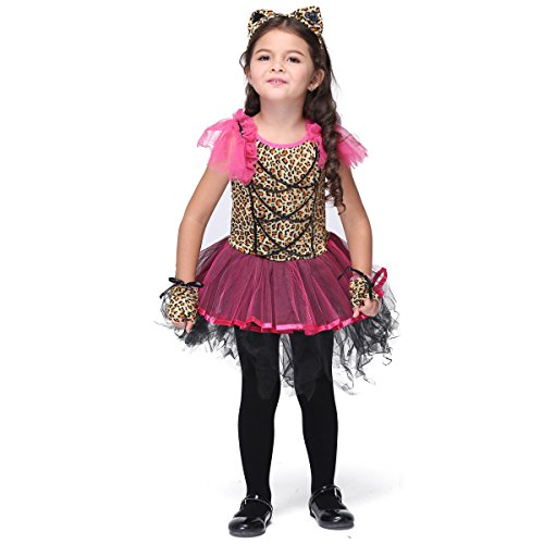 [Halloween Dress Up Lovely Sexy Leopard Costumes Role Play Girls Set (S)] (Lovely Leopard Sexy Costumes)
