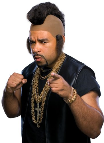 Men's Mr. T Halloween Costume Wig