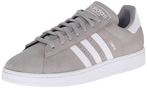 Adidas Originals Men's Campus Fashion Sneaker,Solid Grey/White/Solid Grey,9 M US