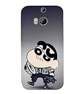 EPICCASE Ching Shang with hat Mobile Back Case Cover For HTC One M8 (Designer Case)