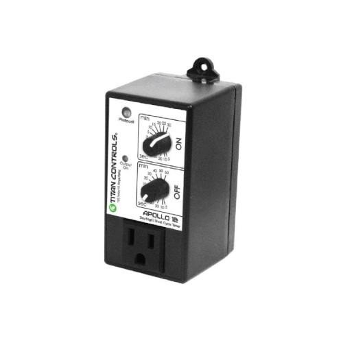 Titan Controls 702745 Apollo 12 Day and Night Short Cycle Timer with Photocell
