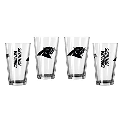 NFL Panthers - Game Day Beer Pints (4) | Carolina Panthers Sports Bar Pint Glasses