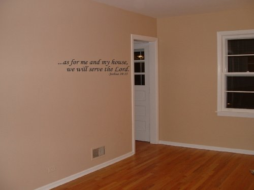 As for Me and My House We Will Serve the Lord Vinyl Wall Decal Sticker Words