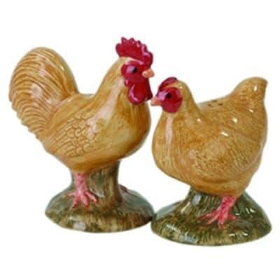 Quail Ceramics - Buff Orpington Hen And Cockerel Salt And Pepper Pots by Quail Ceramics