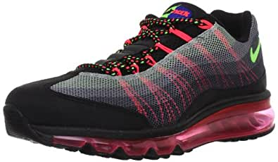 Nike Men's Air Max '95-2013 Dyn FW Black/Flsh Lime/Gm Ryl/Anthrct Running Shoes 9.5 Men US