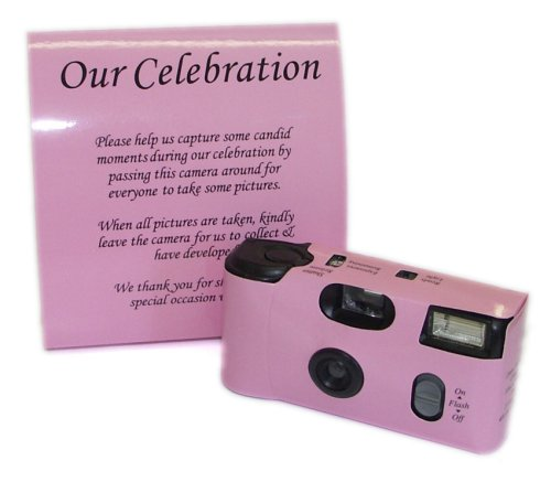Pink Wedding Cameras Pack of 5