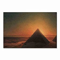 Ivan Aivazovsky The Great Pyramid Of Giza 1871 Original Landscapes Travel Oil Painting Reproduction on Gallery Wrapped Canvas 20X13 inch (51X33 cm)