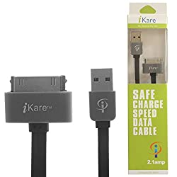 iPhone 4s Cable, iKare USB Sync and Charging Cable for iPhone 4/4S, iPhone 3G/3GS, iPad 1/2/3, iPod - 3.2 Feet 1 Meter
